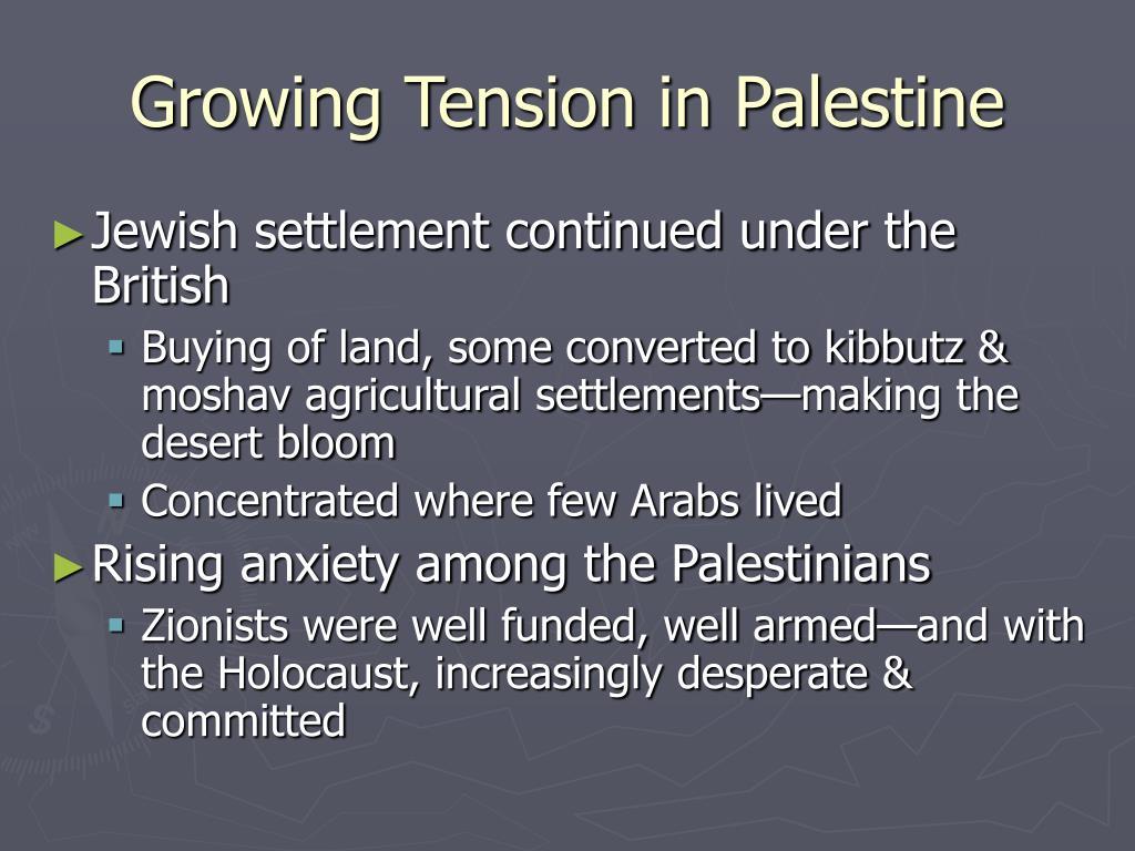 Growing Tension in Palestine