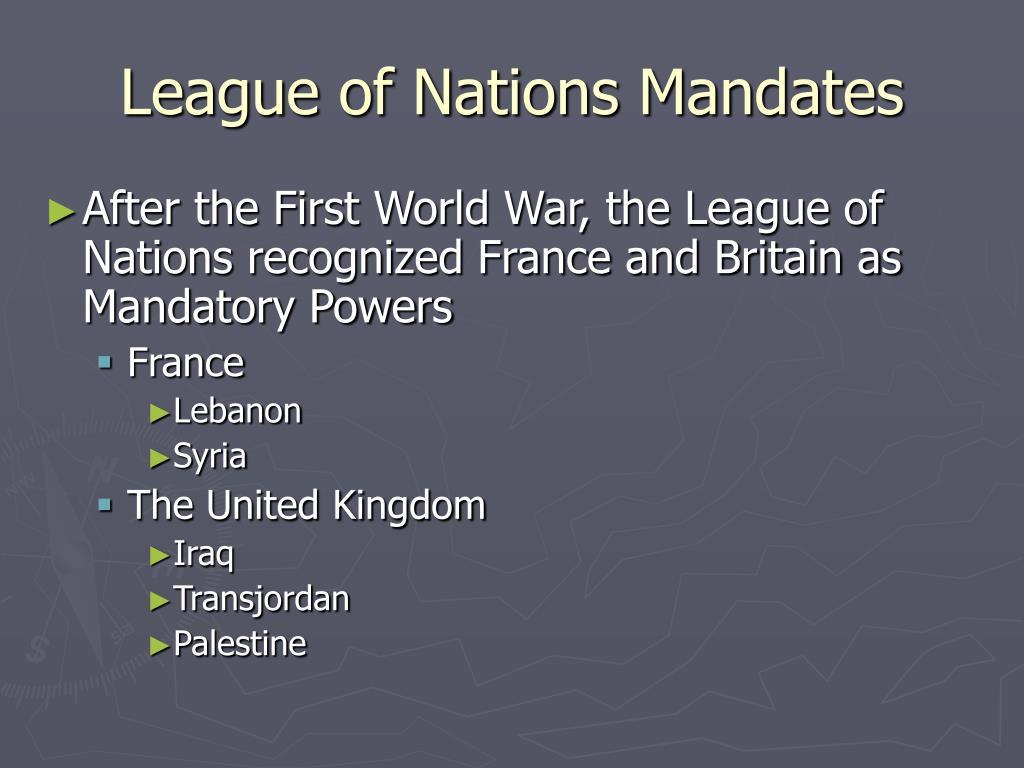 League of Nations Mandates