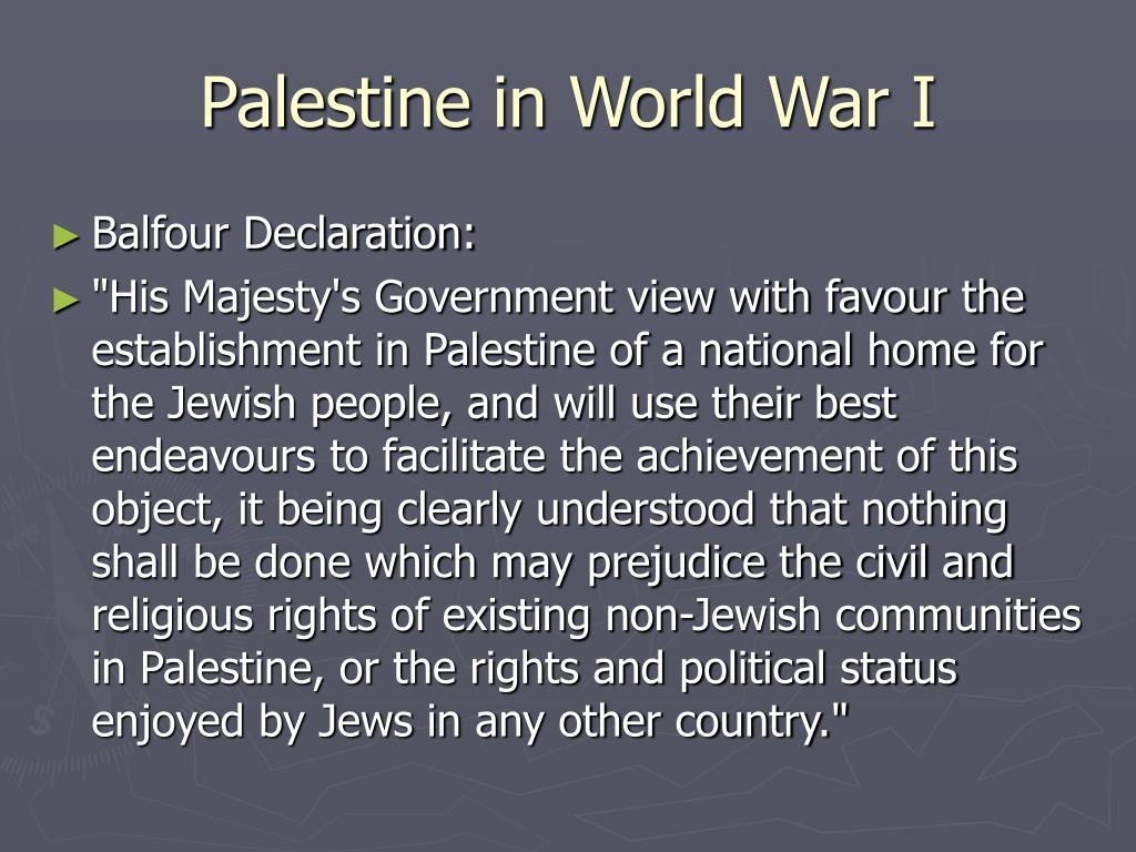 Palestine in World War I