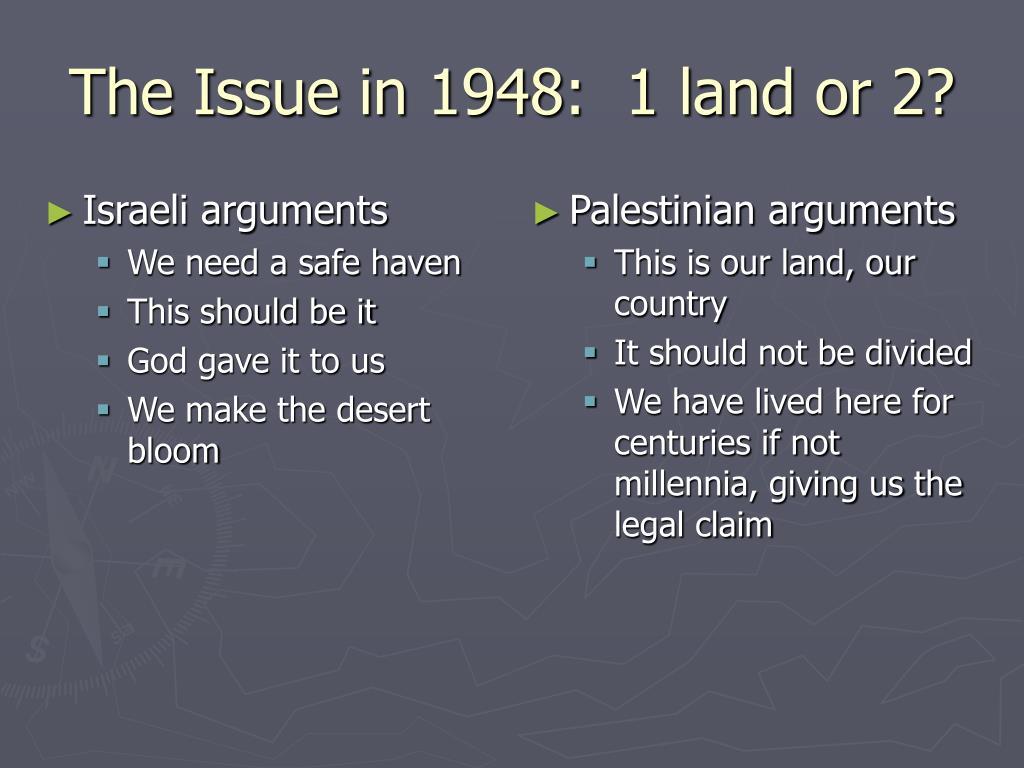 Israeli arguments