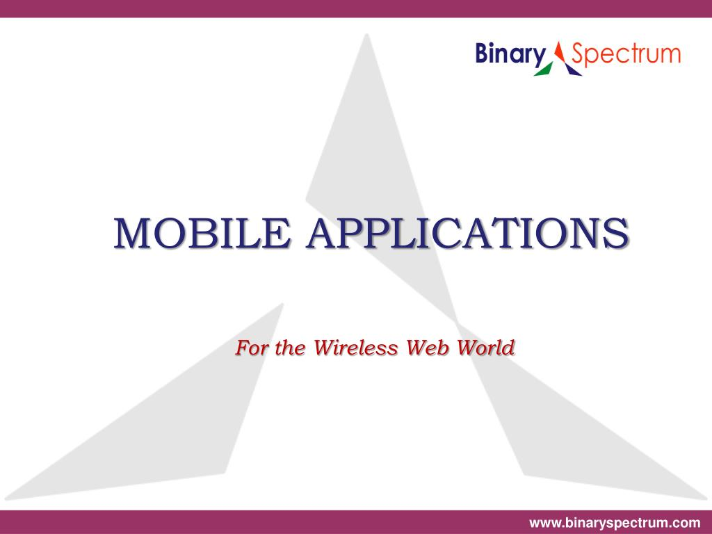 mobile applications for the wireless web world l.
