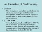 an illustration of pearl growing