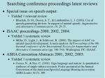 searching conference proceedings latest reviews