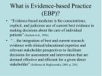 what is evidence based practice ebp