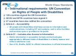6 international requirements un convention on rights of people with disabilities