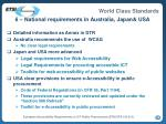 6 national requirements in australia japan usa