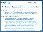 7 relevant european international standards