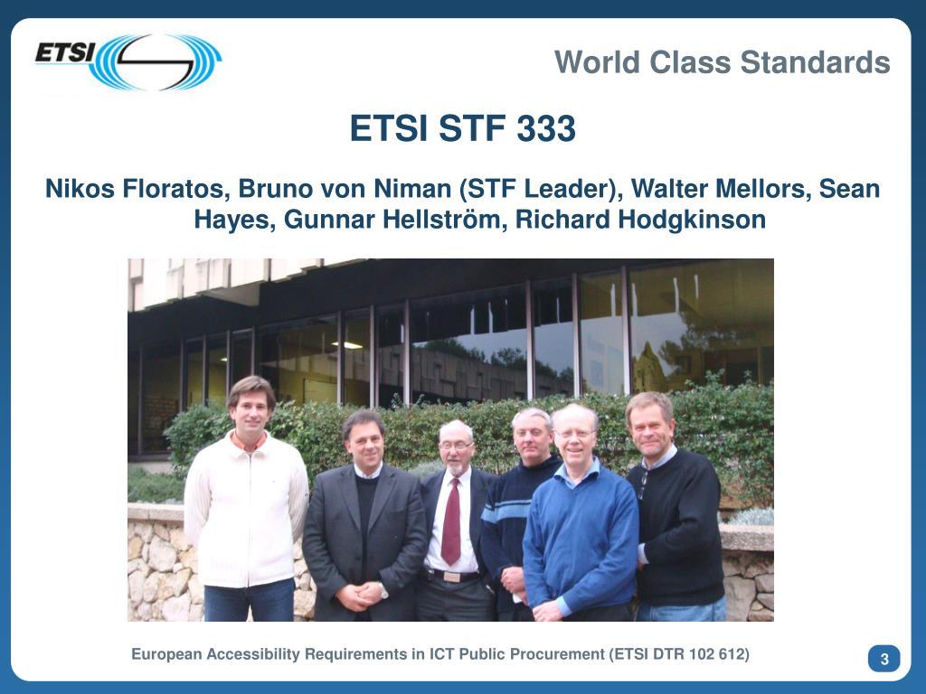 ETSI STF 333