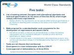 five tasks11