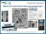 what s ict and how far does procurement go