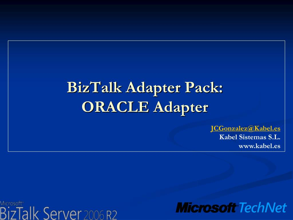 biztalk adapter pack oracle adapter