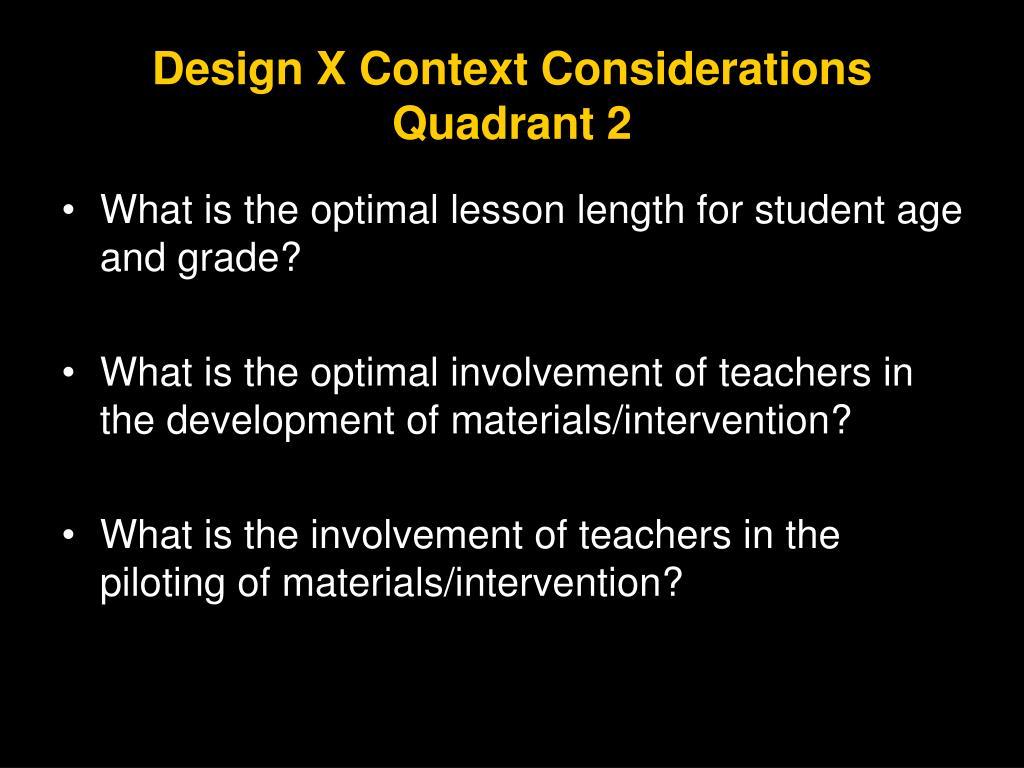 Design X Context Considerations