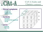 cat a scales and clusters continued19
