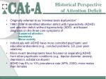historical perspective of attention deficit