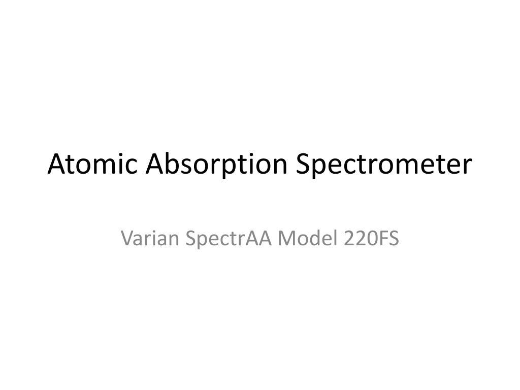 atomic absorption spectrometer l.