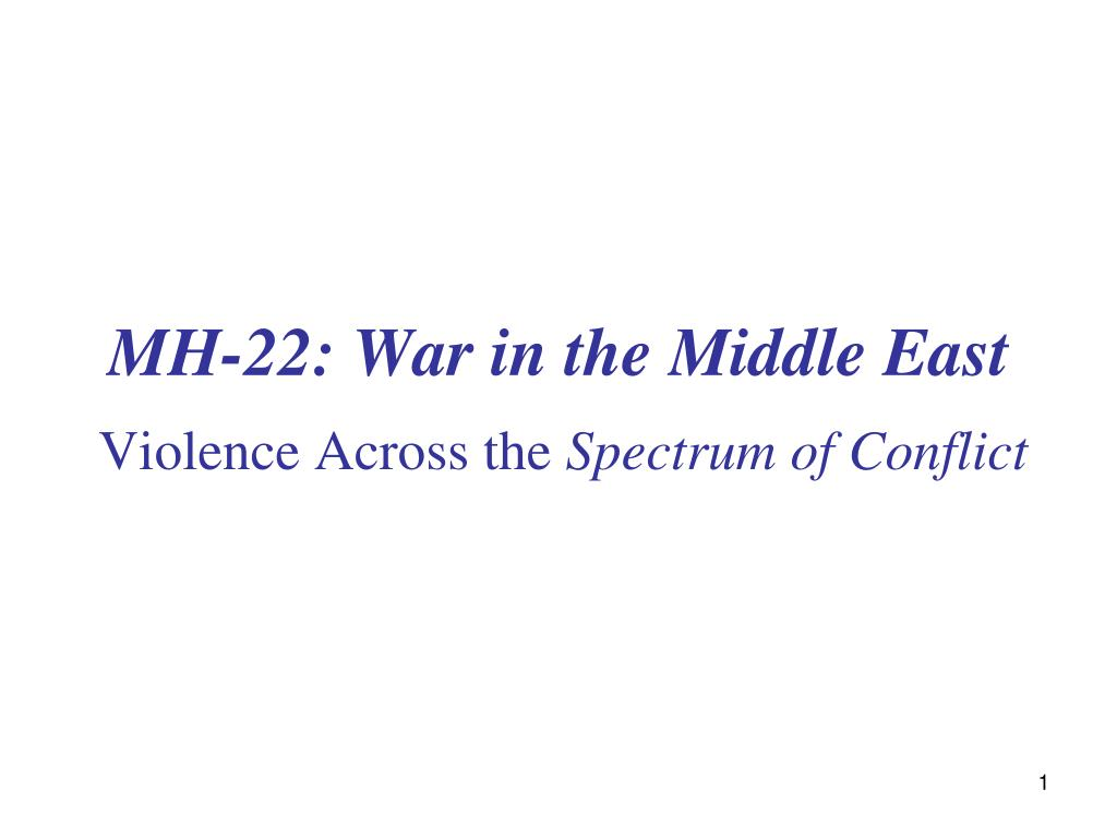 mh 22 war in the middle east l.