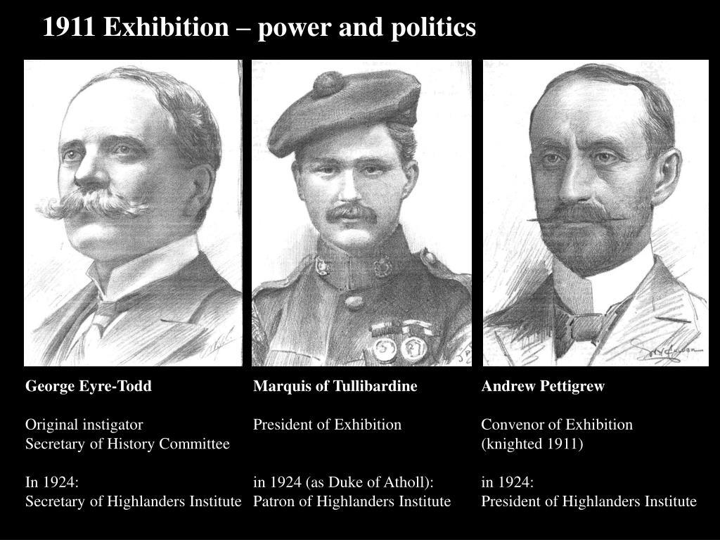 1911 Exhibition – power and politics