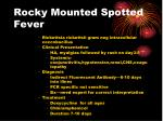 rocky mounted spotted fever