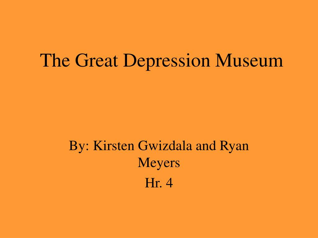 the great depression museum l.