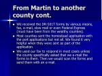 from martin to another county cont
