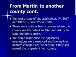 from martin to another county cont23