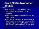 from martin to another county