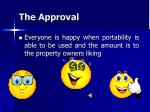 the approval
