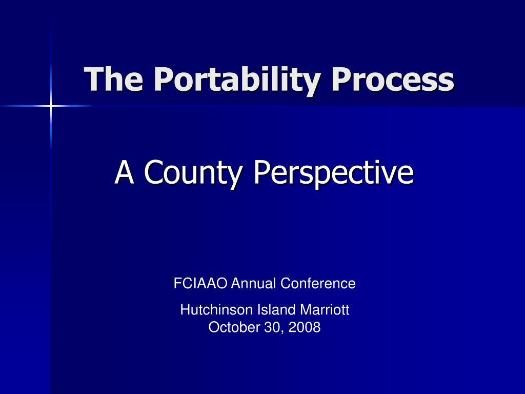 the portability process l.