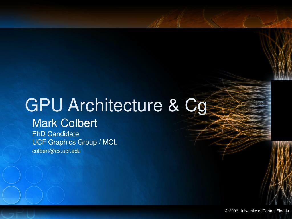 gpu architecture cg l.