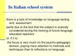 in italian school system