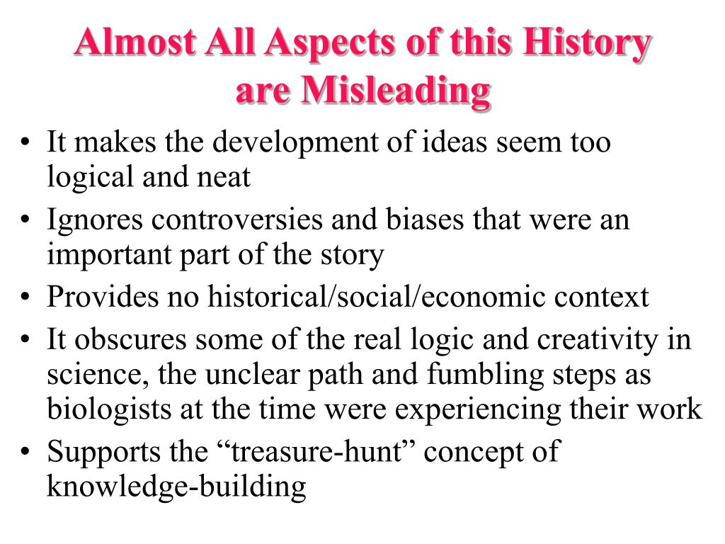 Almost All Aspects of this History are Misleading