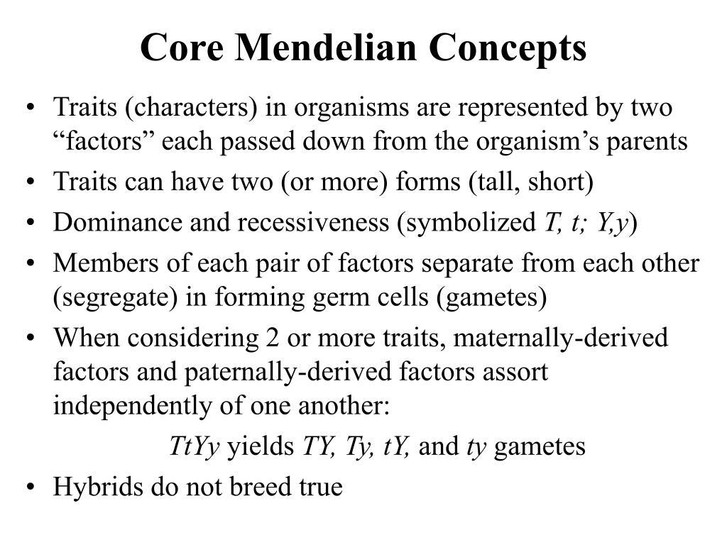 Core Mendelian Concepts