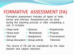 formative assessment fa