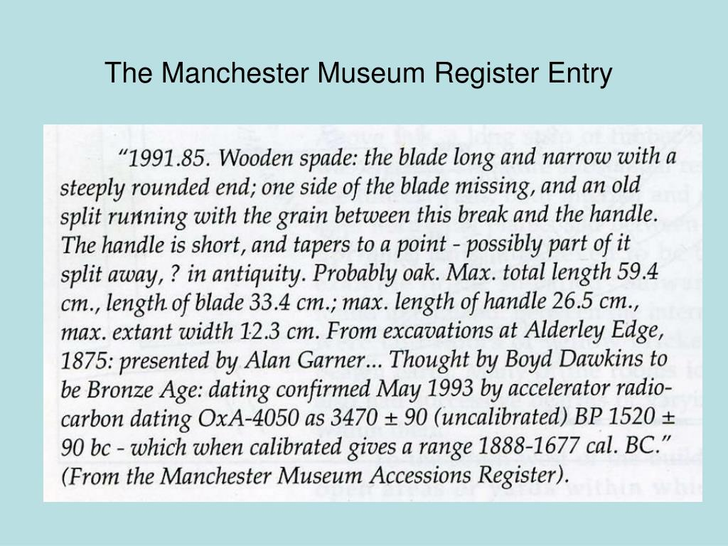 The Manchester Museum Register Entry