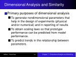 dimensional analysis and similarity14