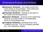 dimensional analysis and similarity15