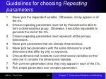 guidelines for choosing repeating parameters