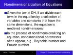 nondimensionalization of equations