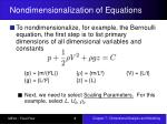 nondimensionalization of equations8