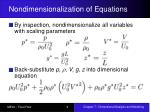 nondimensionalization of equations9