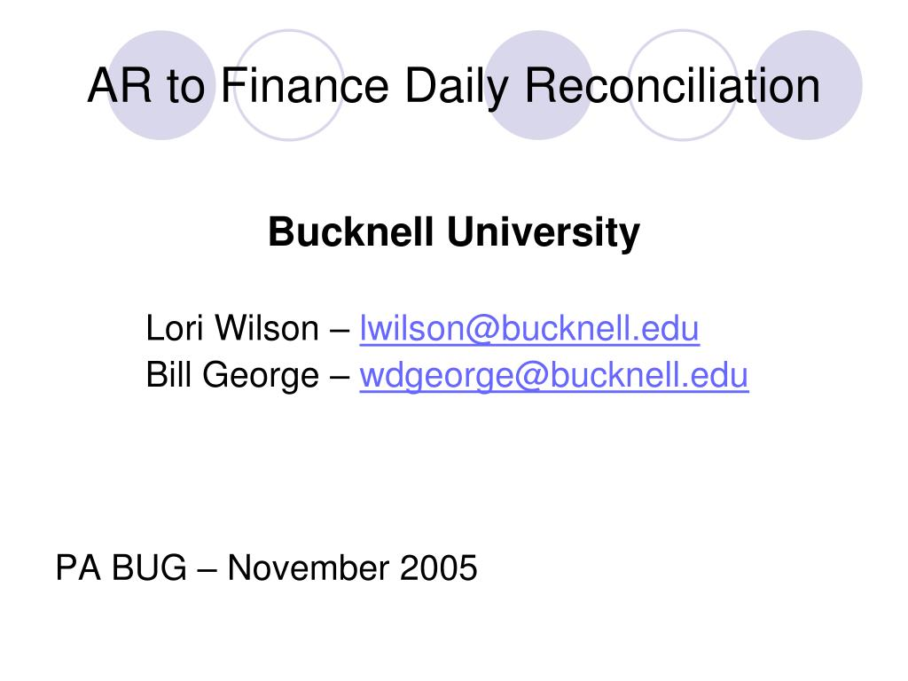 ar to finance daily reconciliation l.