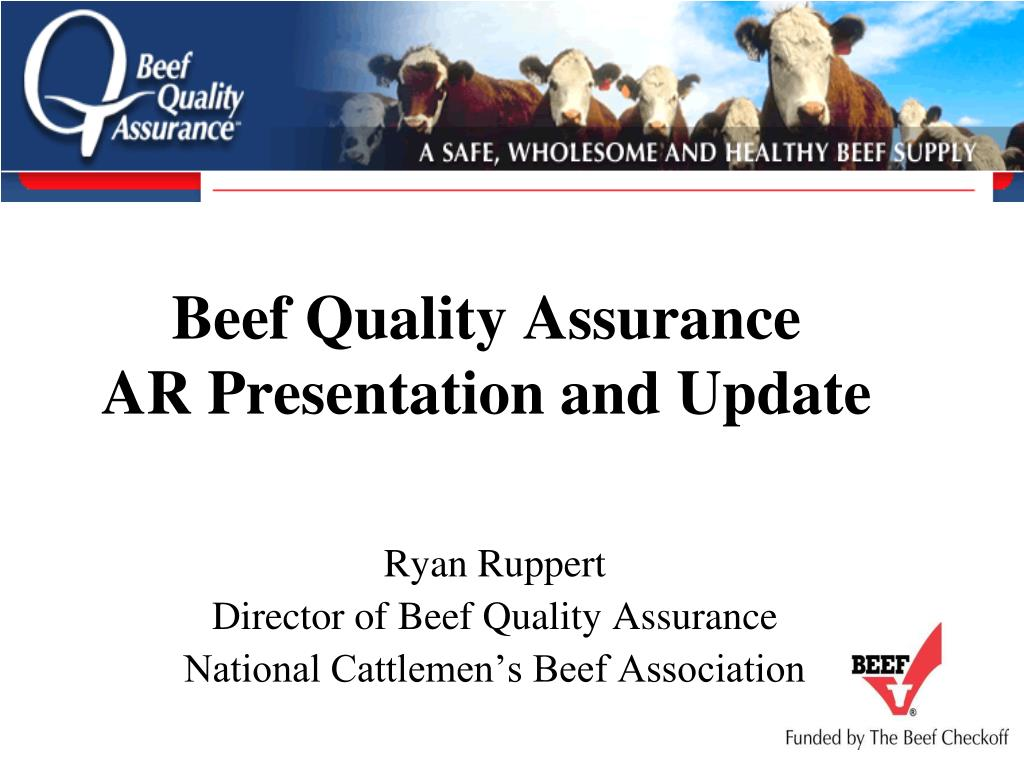 beef quality assurance ar presentation and update l.