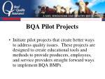 bqa pilot projects