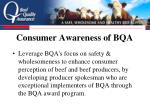 consumer awareness of bqa