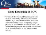 state extension of bqa