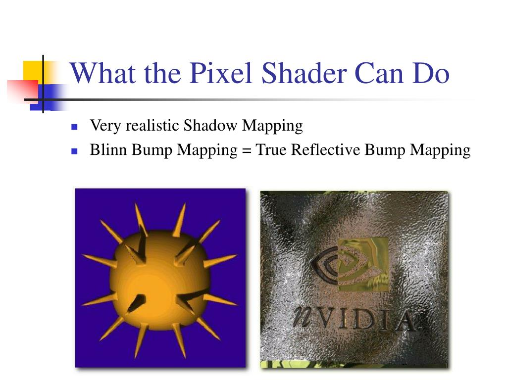 What the Pixel Shader Can Do