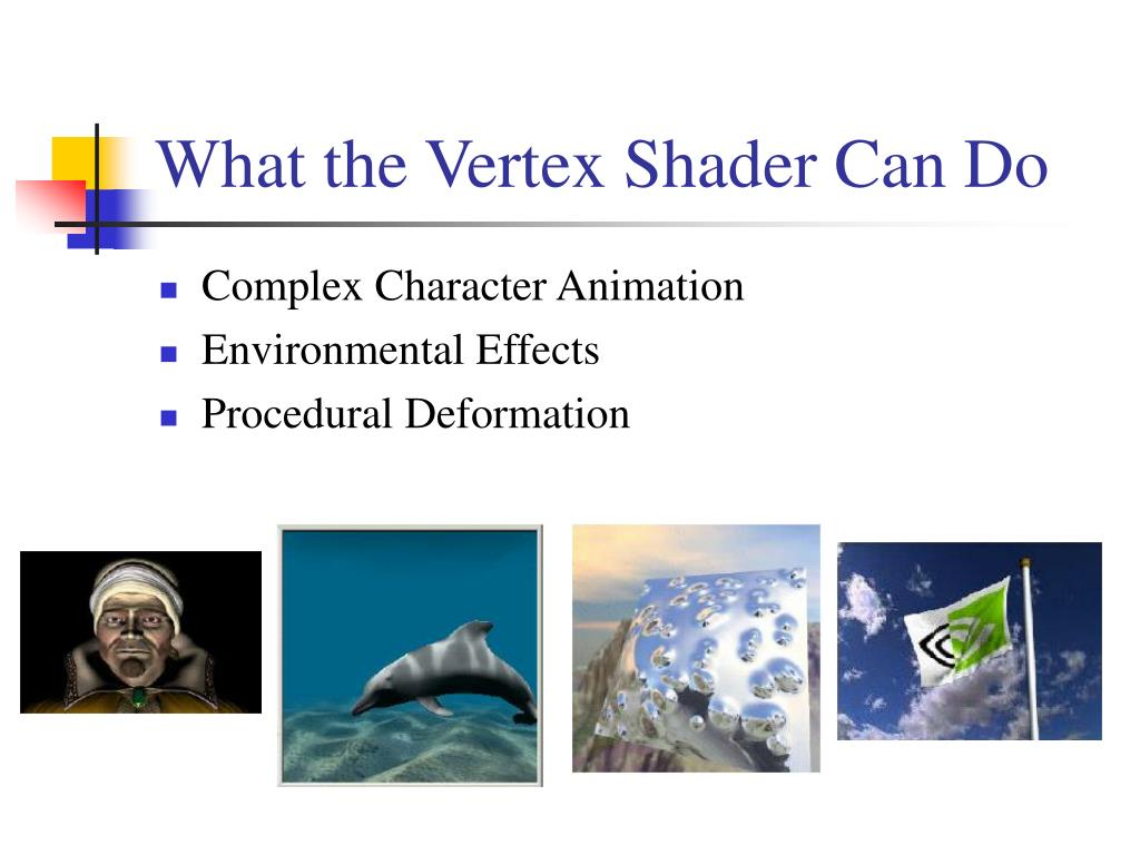 What the Vertex Shader Can Do
