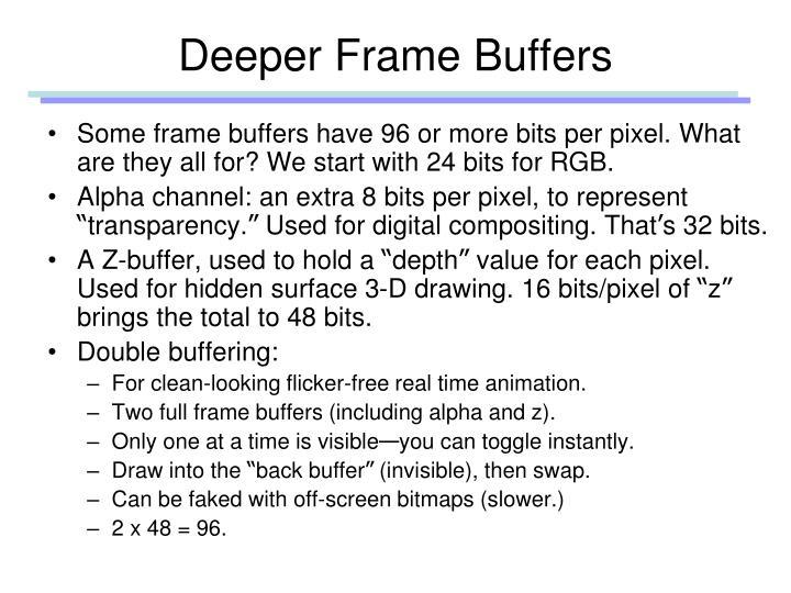 Deeper Frame Buffers
