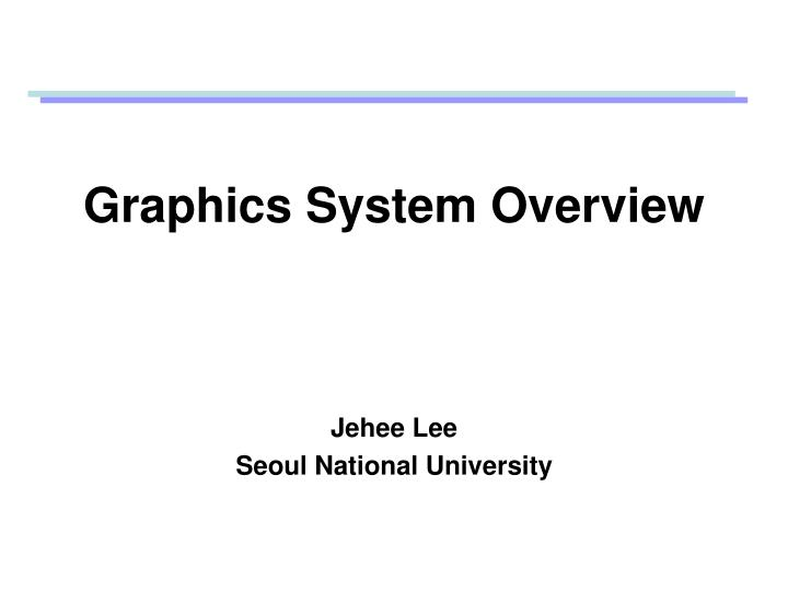 Graphics system overview