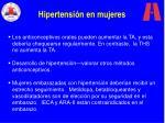 hipertensi n en mujeres
